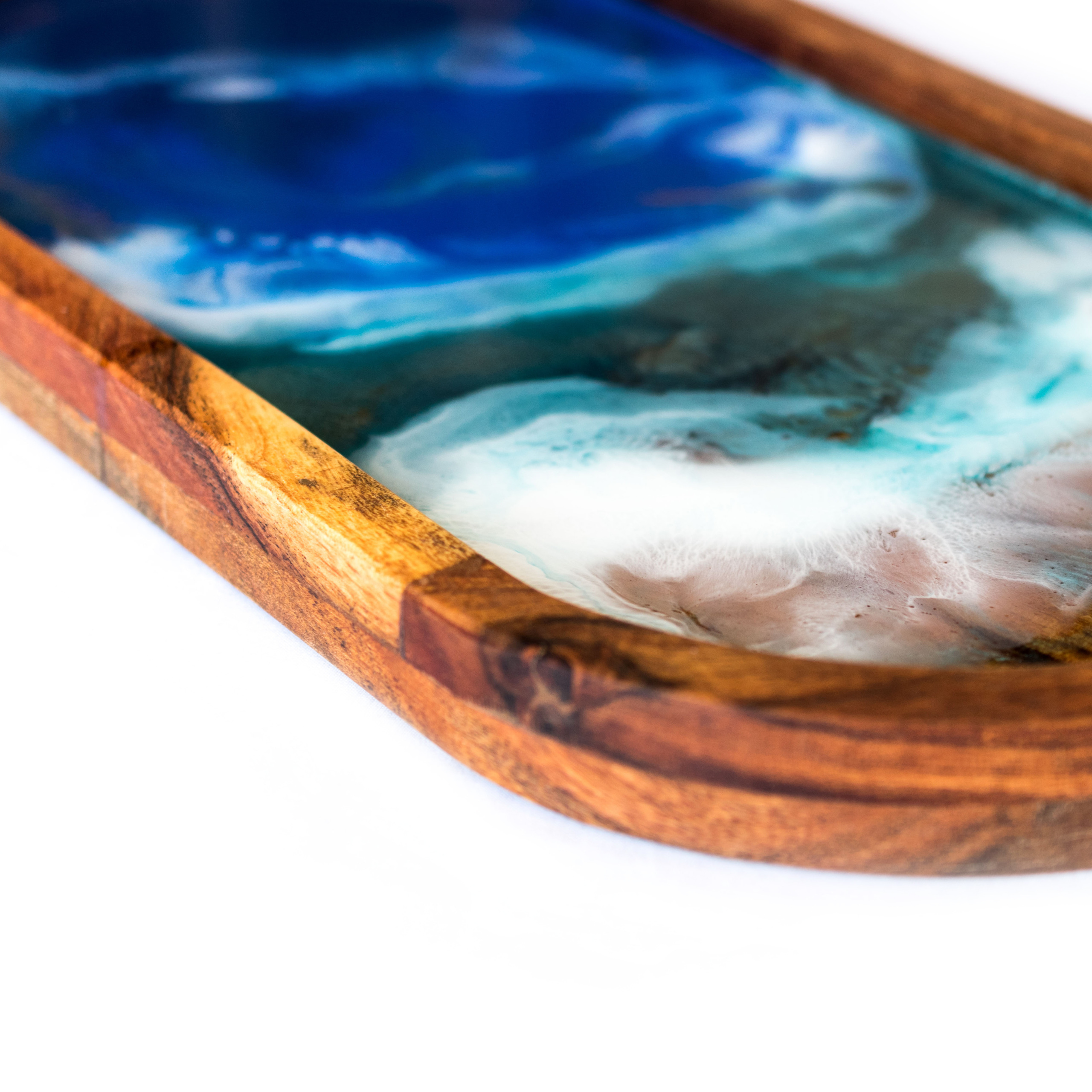 Oval Beach Themed Resin Serving Tray